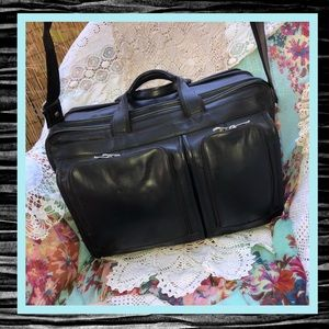 FATHER'S DAY! USC Black Leather Computer Briefcase